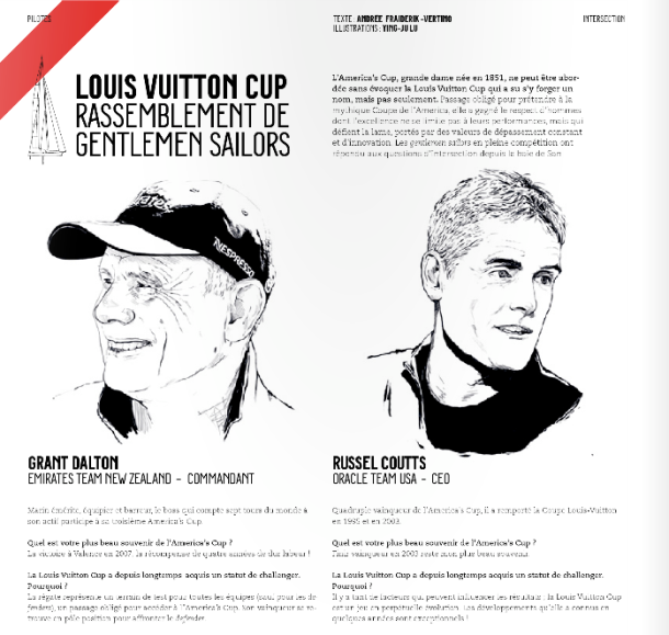 Intersection magazine Louis Vuitton CUP 2013